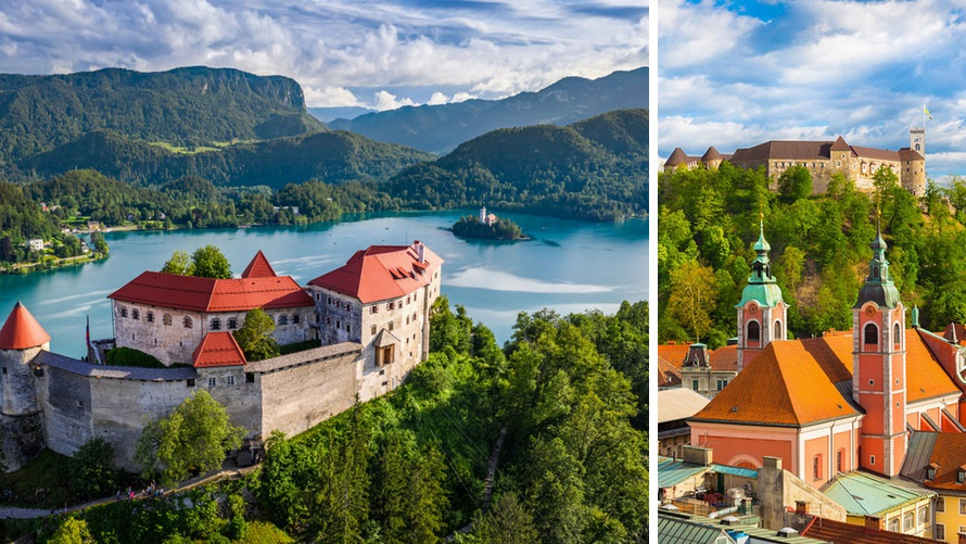 Castles of Slovenia: Bled and Ljubljana