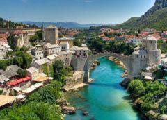 The famous bridge of Mostar