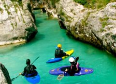 Kayaking in river Soča
