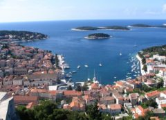 The panoramic view of Hvar