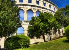 Gorgeous amphitheater in Pula