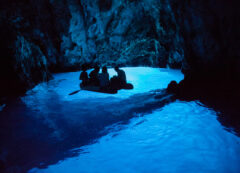 Blue cave near Vis island, Croatia