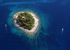 Pakleni islands near Hvar, Croatia