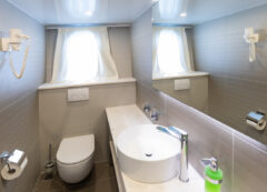 Luxury small cruise ship: Bathroom