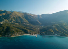 Llogara Pass above the Ionian Sea, Albania