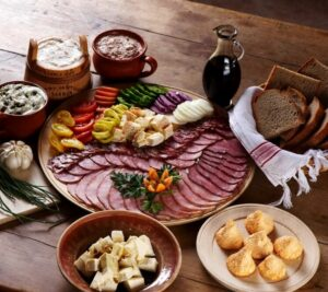 Traditional food of Slovenia - narezek