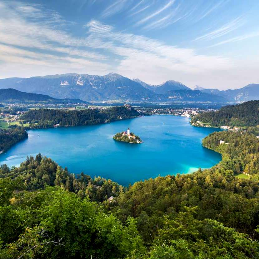 best lakes to visit in the balkans - Bled, Slovenia