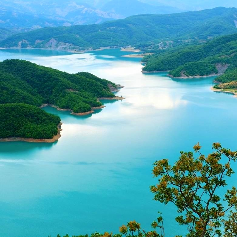 Bovilla lake in Albania