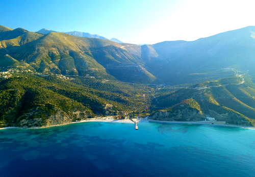 Driving along the Albanian riviera