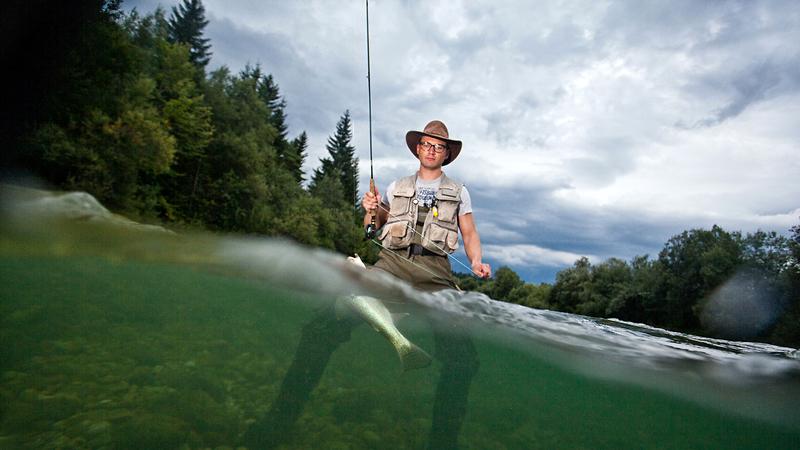 Fly fishing, Slovenia
